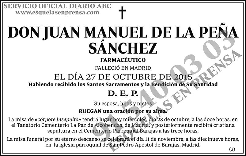 Juan Manuel de la Peña Sánchez